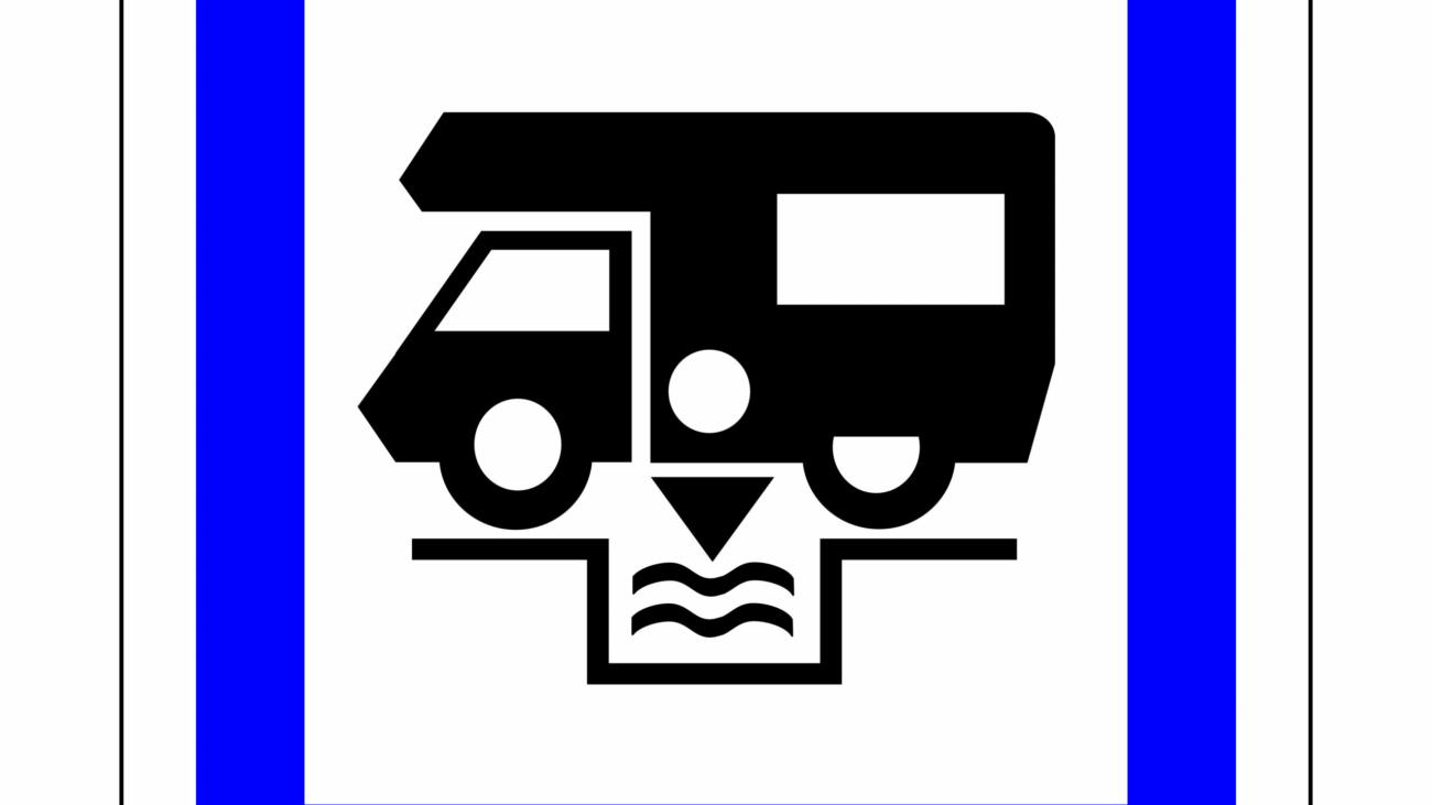 Dumping station for camping car symbol